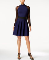 Rachel Roy Illusion-Sleeve Sweater Dress