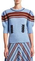 Miu Miu Shetland Stripe Wool Sweater