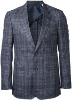 Cerruti woven check blazer - men - Silk/Linen/Flax/Lambs Wool - 46
