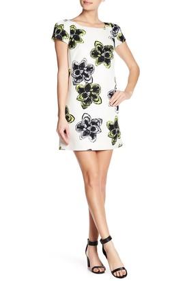 Milly Chloe Floral Print Cap Sleeve Dress
