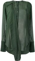 Joseph military shirt - women - Silk/Cotton - 36