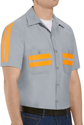 Big & Tall Red Kap Classic-Fit Enhanced Visibility Button-Down Shirt
