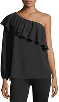 7 For All Mankind ONE SHOULDER ONE SLEEVE TOP