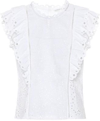 Veronica Beard Calisata broderie-anglaise blouse