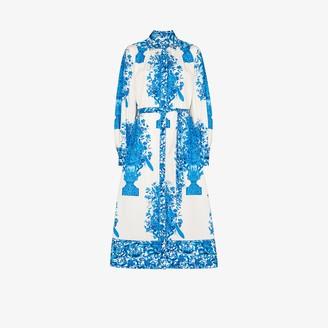 Valentino Ceramic Print Cotton Shirt Dress