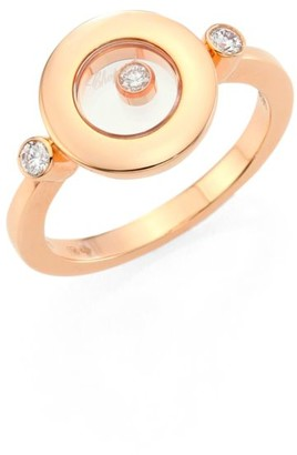 Chopard Happy Spirit Diamond & 18K Rose Gold Ring
