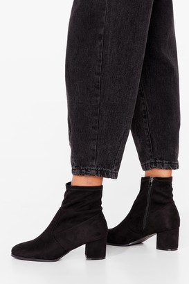 Nasty Gal Womens Faux Suede For Dancin' Wide Fit Heeled Boots - Black - 3