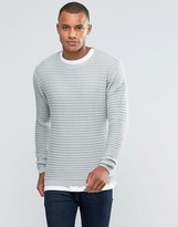 Brave Soul Ribbed Crew Neck Sweater