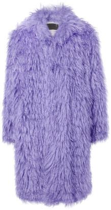 Prada Oversized Textured Mohair And Cotton-Blend Coat
