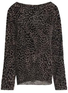 Nili Lotan Harper Leopard-print Devore-velvet Top