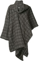 Issey Miyake Pre Owned plaid knitted coat