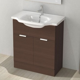 "Arcom by Nameeks New Classic 32"" Single Vanity Set Base Finish: Larch Brown"