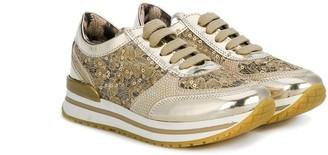 Roberto Cavalli Junior Lace Panel Sneakers