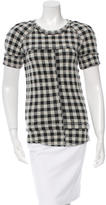 Etoile Isabel Marant Short Sleeve Gingham Top