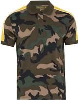 Valentino Camouflage-print cotton polo shirt