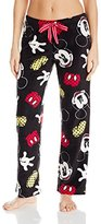 Disney Women's Mickey Mouse All-Over Print Angel Fleece Pant