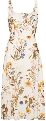 Reformation Camari floral-print midi dress