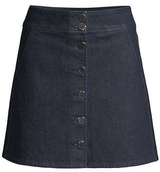 Kate Spade Button Denim Mini Skirt