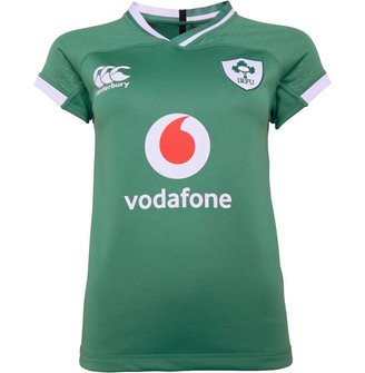 Canterbury of New Zealand Womens Ireland Rugby Vapodri Home Pro Jersey Bosphorus