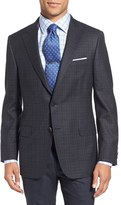 Hickey Freeman Men's 'Beacon' Classic Fit Plaid Wool Sport Coat