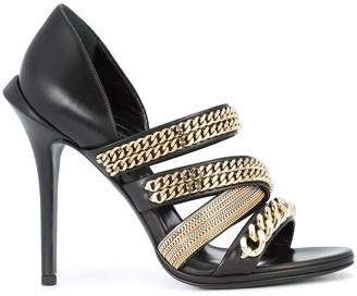 Roberto Cavalli gold-chain strappy sandals
