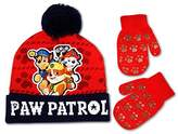 Nickelodeon Toddler Boys Paw Patrol Hat and Mitten Cold Weather Set, Age 2-5