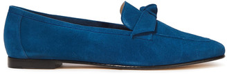 Alexandre Birman Knotted Suede Loafers