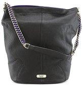 Dolce Vita Pebble Leather Shoulder Bag with Contrast Suede Bucket Bag