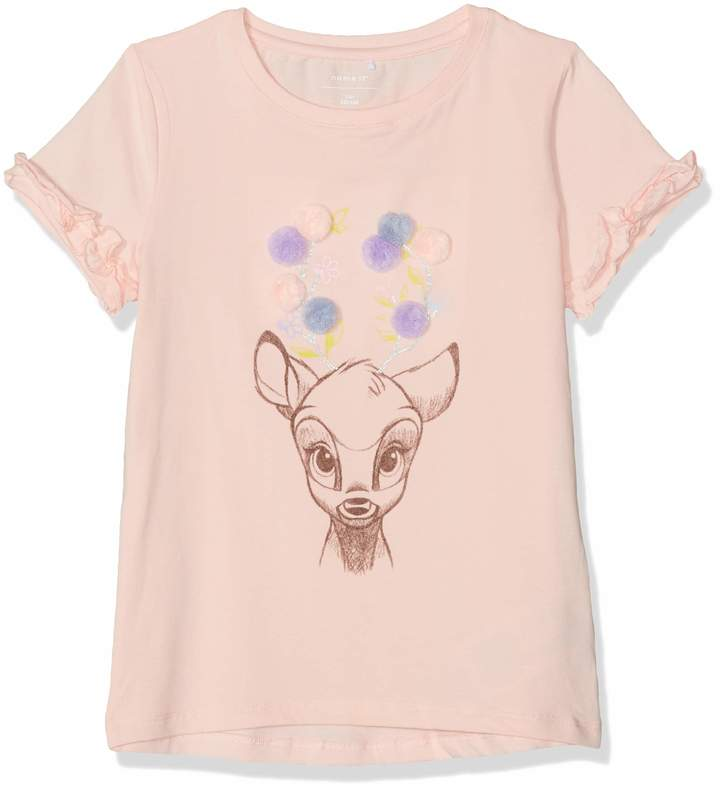 Name It Girl's Nmfbambi Kaatje Ss Top Wdi T-Shirt