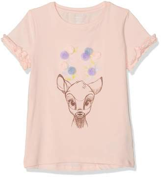 Name It Girl's Nmfbambi Kaatje Ss Top Wdi T-Shirt