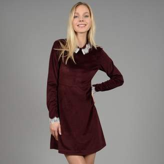 Molly Bracken Velvet Dress with Lace Collar and Cuffs