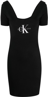 Calvin Klein Jeans printed logo T-shirt dress