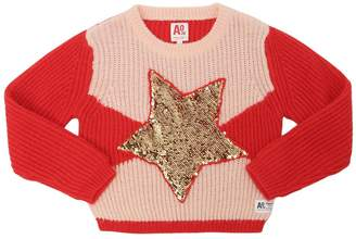 American Outfitters STAR SEQUINED RIB KNIT SWEATER