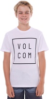 Volcom Boys Flagg Tee White