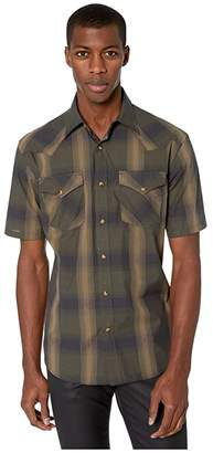 Pendleton Frontier Shirt Short Sleeve (Olive/Brown Dobby Plaid) Men's Short Sleeve Button Up