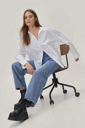 Nasty Gal Womens Dru Oversized Wide-Leg Jeans - black - 8