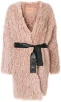 Drome fluffy belted coat