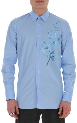 Alexander McQueen Floral Embroidered Shirt
