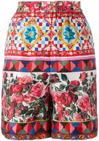 Dolce & Gabbana floral print pyjama shorts
