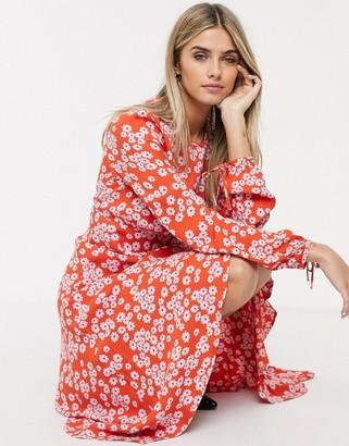 Ghost Annie bustier floral midi dress