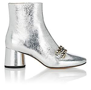 Marc Jacobs Women's Remi Chain-Link Ankle Boots - Silver