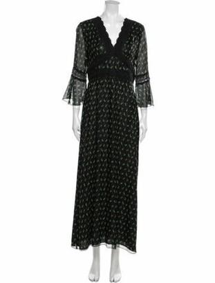 Anna Sui Silk Long Dress Black