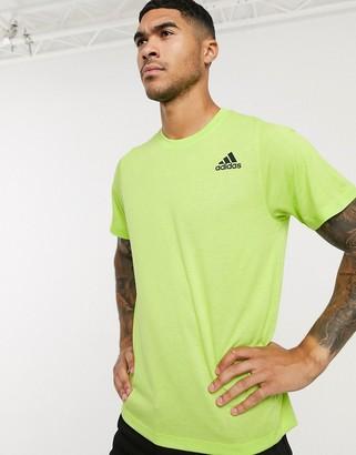 adidas Training logo t-shirt in lime