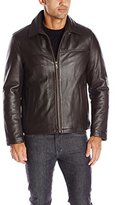 Tommy Hilfiger Men's Leather Laydown Collar Open Bottom