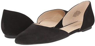 Nine West Starship D'Orsay Flat (Black Nubuck) Women's Shoes