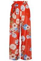 Nicholas Belted Floral-Print Cotton And Silk-Blend Wide-Leg Pants