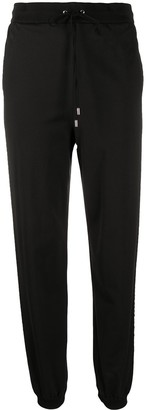 Alberta Ferretti Rhinestone Stripe Track Pants
