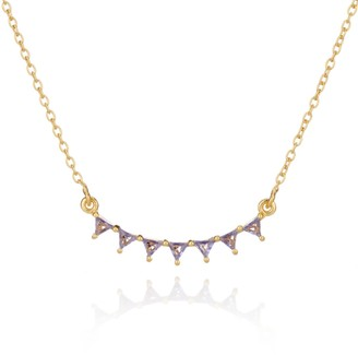 Fool's Gold Amethyst Triangle Curve Necklace