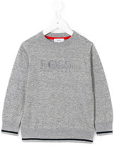 Boss Kids - logo embroidered jumper - kids - Cotton - 4 yrs