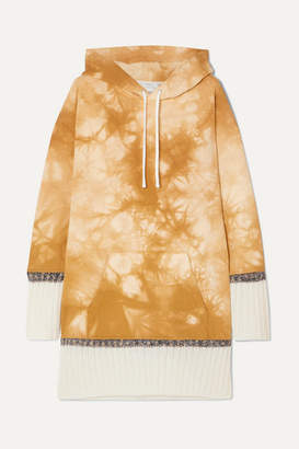 3.1 Phillip Lim Tie-dyed Cotton-jersey Hoodie - Yellow